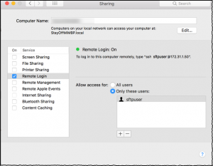 Using MacOS built-in SFTP server – My Cisco Collaboration Diary